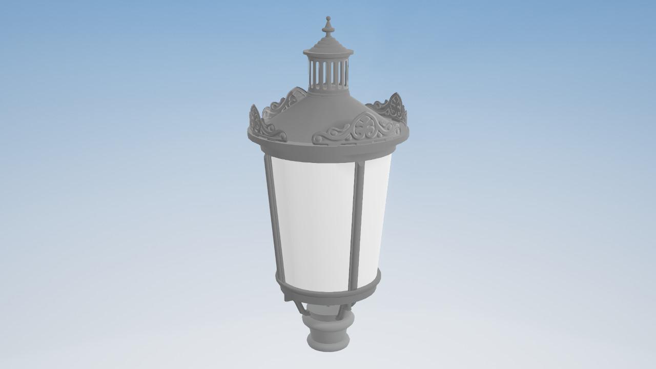 Modele 3D elemetów oświetleniowych i małej architektury
